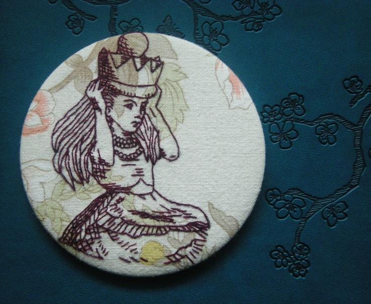 Queen Alice 3 1/2 inch round badge