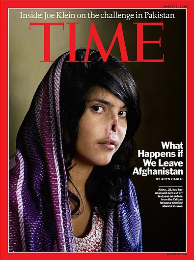 Time, in copertina ragazza afgana col naso mozzato
