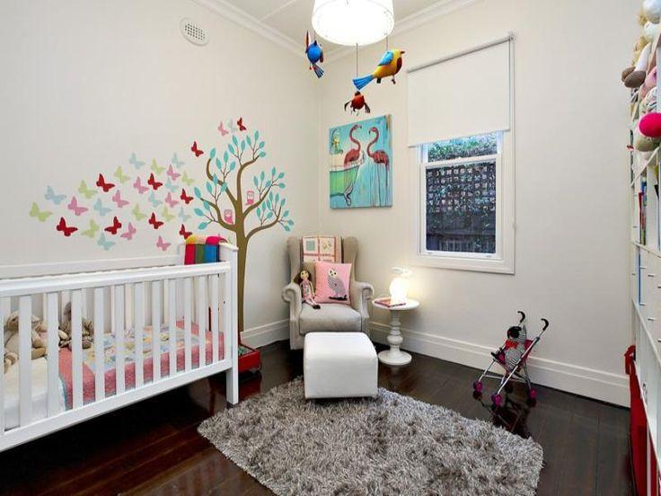 Children's room bedroom design idea with floorboards & sash windows using blue colours - Bedroom photo 251232