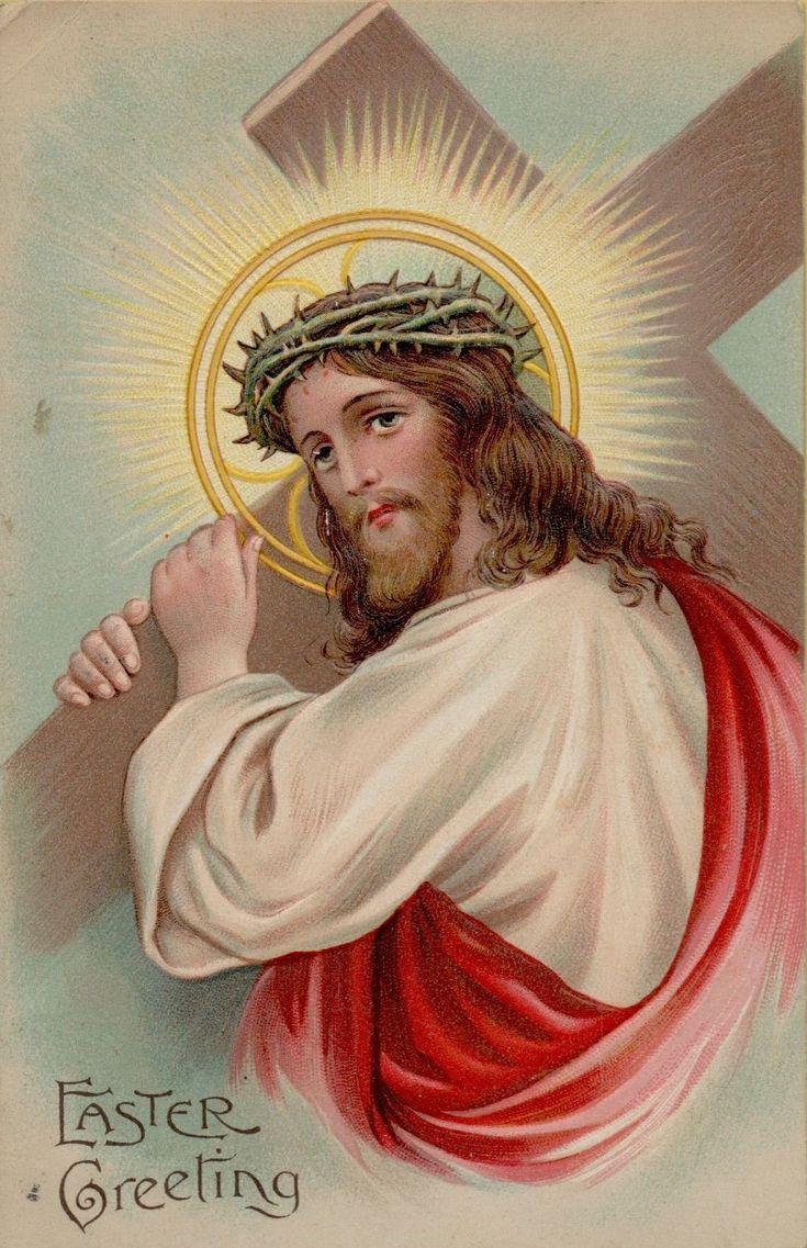 Vintage Easter Religious Jesus Greetings Postcard Card Victorian Embossed | eBay