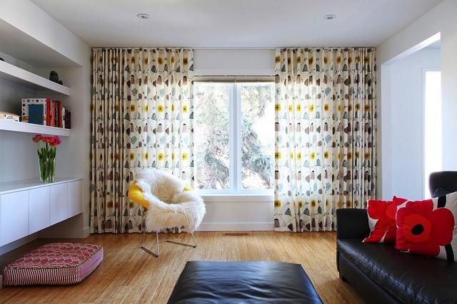 Mid Century Modern Curtains Contemporary In 2020 Mid Century