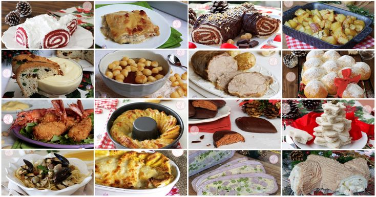 Pranzo di Natale una raccolta imperdibile di tantissimi antipasti, primi piatti, secondi, contorni, dolci, torte e biscotti che non potrete perdere