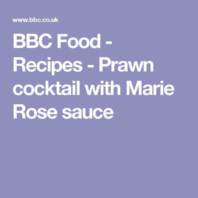 BBC Food - Recipes - Prawn cocktail with Marie Rose sauce