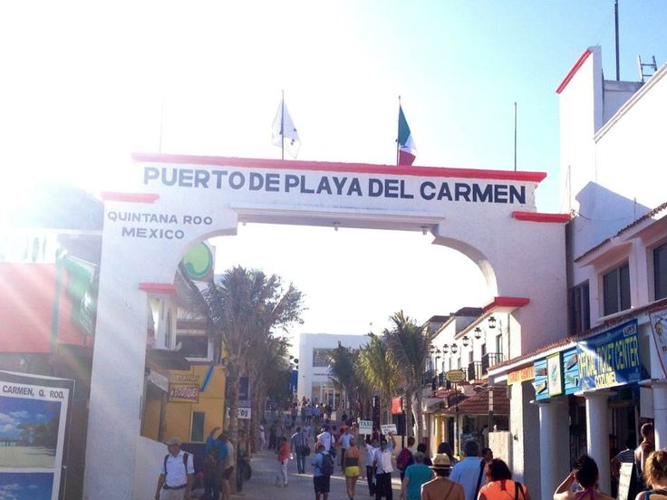Playa Del Carmen, were you catch the ferry right off 5th Ave.
