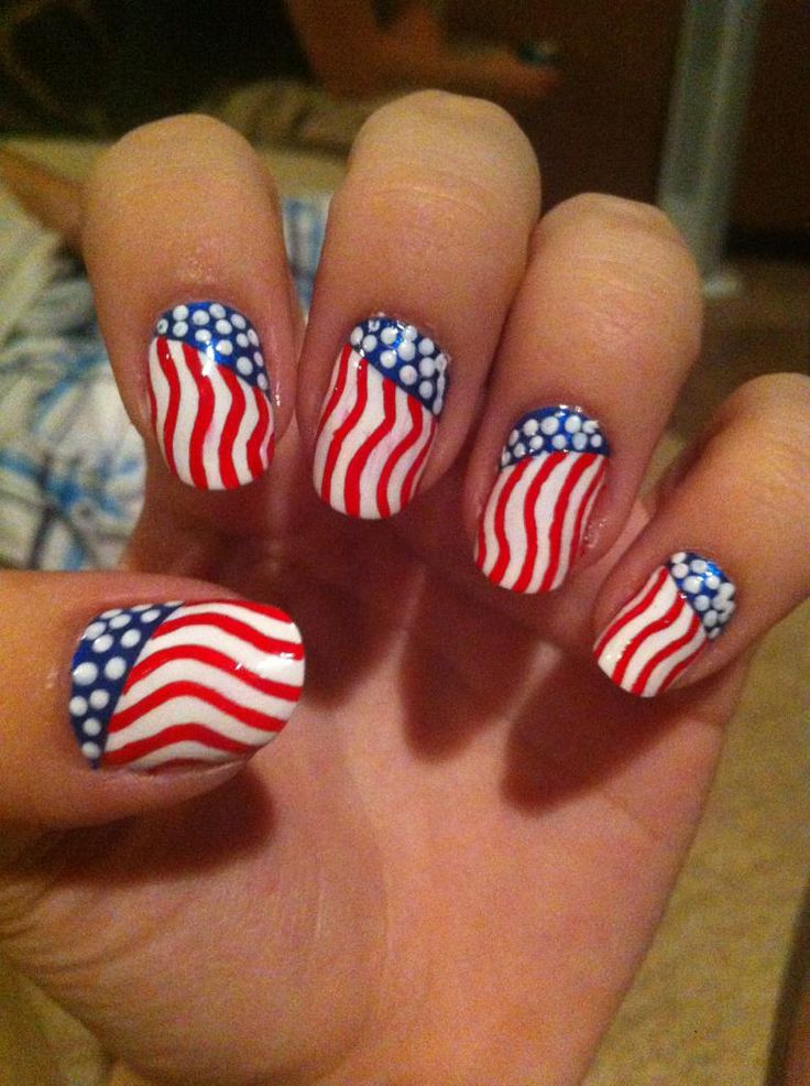 28 Best Images About Usa Nails On Pinterest