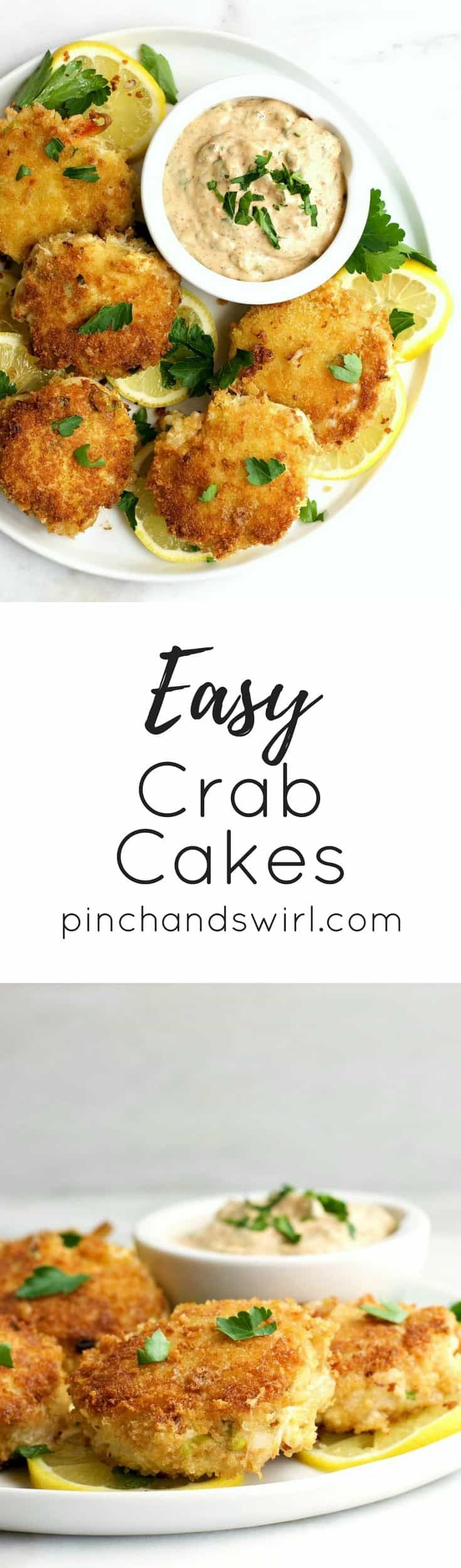In this Easy Crab Cake recipe, I'll show you exactly how easy it is to make delicious lump crab cakes!  They're made with just a few simple ingredients like egg, mayonnaise, fresh lemon juice, hot sauce and a coating of panko breadcrumbs so that they have that delicate crunch on the outside once you fry them. And I love to fry them in a mixture of oil and butter because butter and crab are made for each other!  #crabcakes #mardigrasrecipes #recipeideas #crab #neworleans