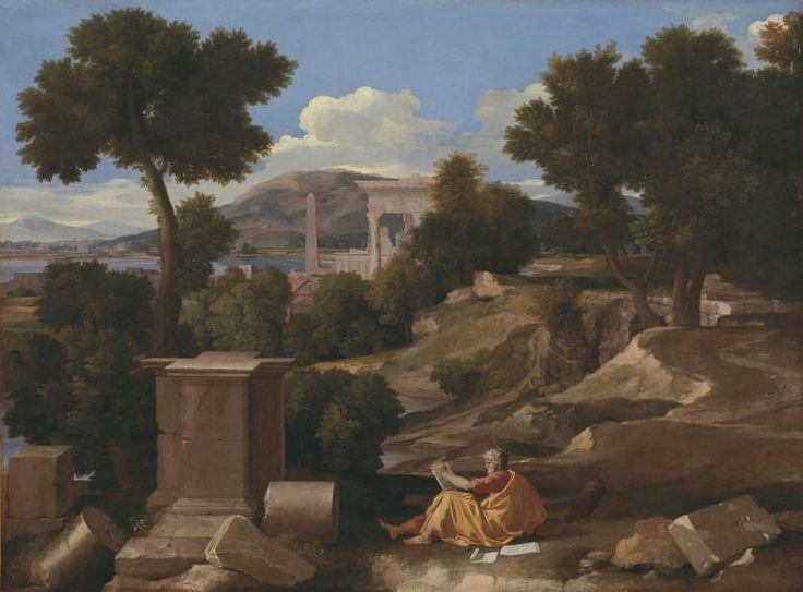 Poussin, St John on Patmos