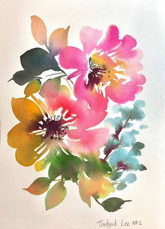 Original Watercolor Painting Arches Watercolor Cold Pressed