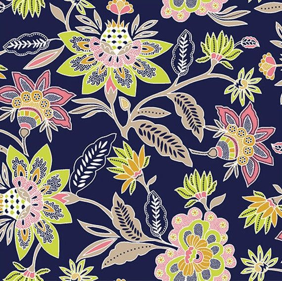 Half Yard Knit Fabric Pure Vintage Lotus Floral Girl Charlee Bolt Cotton Spandex Large Floral Kn Pure Products Floral Knit Sewing Fabric