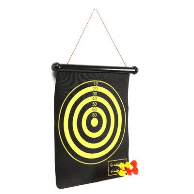 Trademark Games Magnetic Roll-up Dart Board and Bullseye Game with Darts