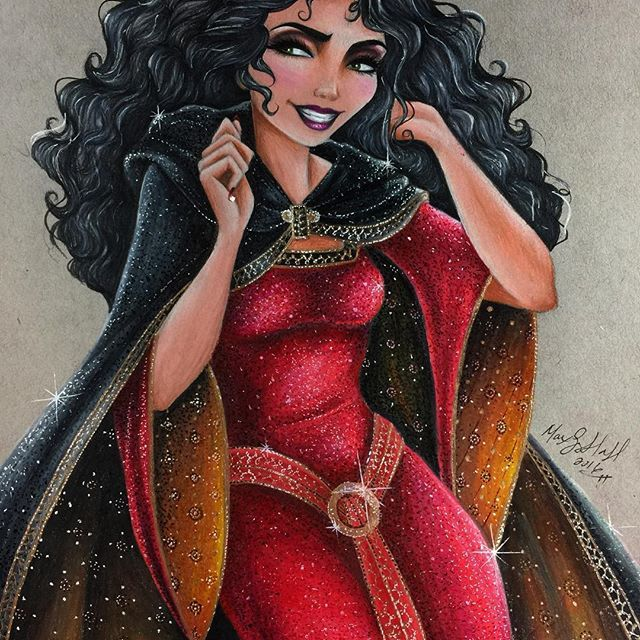 """""""Mother knows best..."""" 😈🤓 I had a blast with #mothergothel here and I'm wicked happy with the amount of amazing things you guys had to say on all the wip's. I hope you all like the finished piece!!!!! 🤓 #motherknowsbest #tangled #tangledfanart #fanart #disney #disneyfanart #disneyvillains #prismacolor #prismacolorpencils #strathmore #tonedgray #finishedart #officialdisneyart #featuredisneyart #disneyarts"""