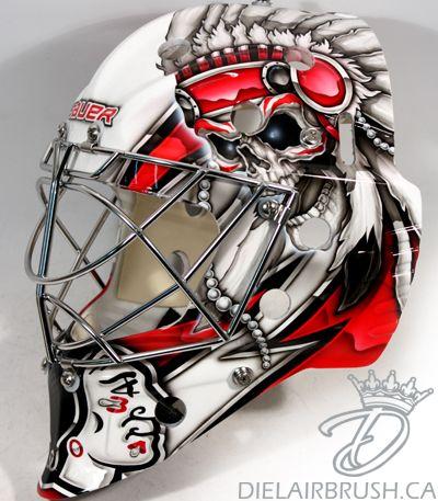 bkackhawks goalie masks   Ray Emery Chicago Blackhawks Goalie Mask