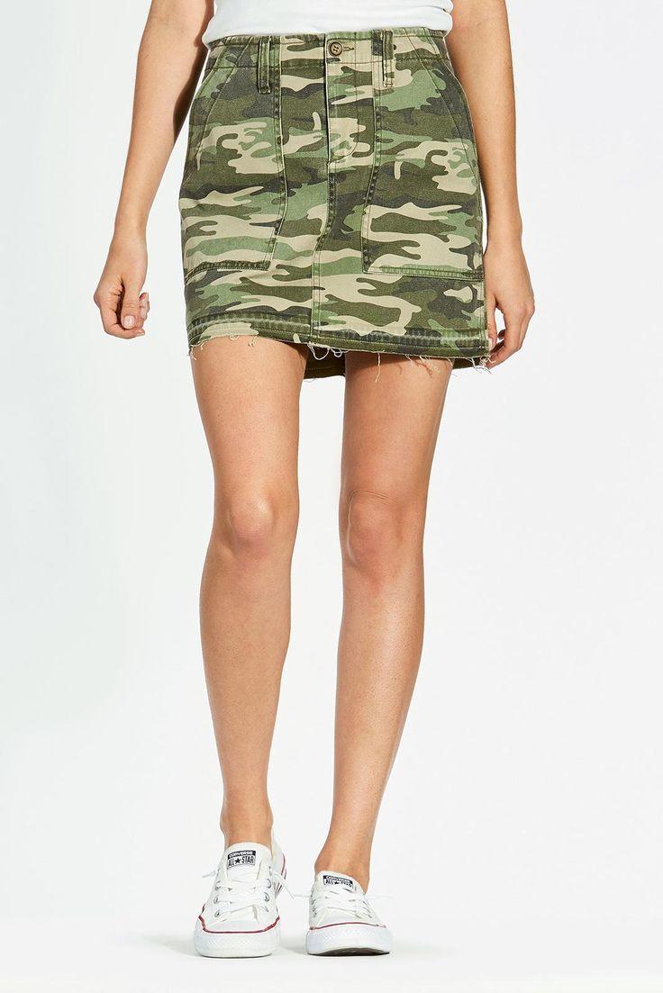 SANCTUARY Camo Skirt