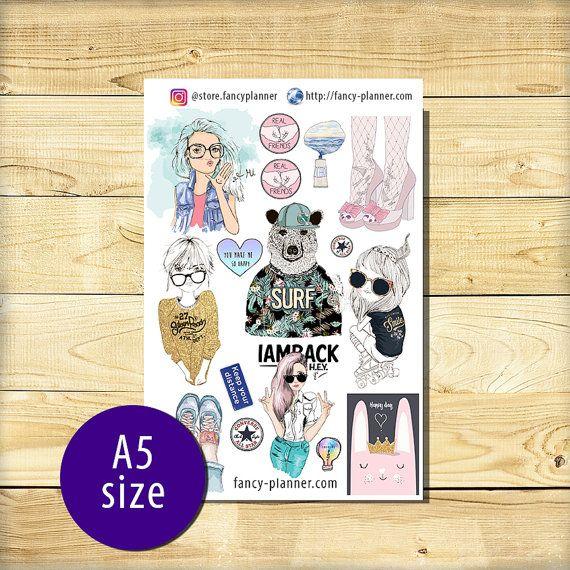 A5-014 Planner cute stickers A5 binder от StoreFancyplanner