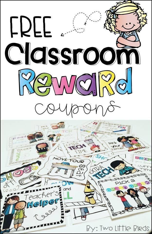 FREE set of 10 classroom reward coupons!