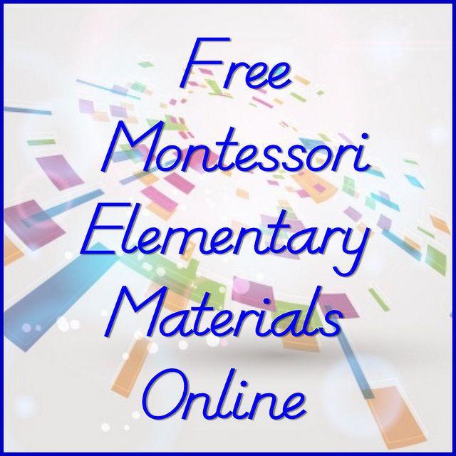 Free Montessori Elementary Materials Online (links to free Montessori elementary albums and curriculum)
