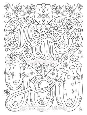 I Love You Coloring Page By Thaneeya Mcardle Color Me Quotes