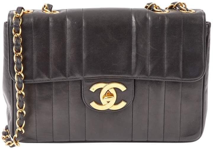 Black quilted leather shoulder Chanel bag with #Gold Hardware   #Ad