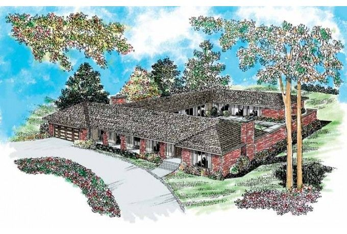 Eplans ranch house plan courtyard classic 3110 square for Www eplans com house plans