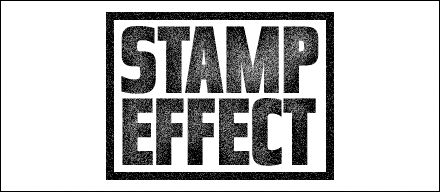 How to create  stamped effect on your text