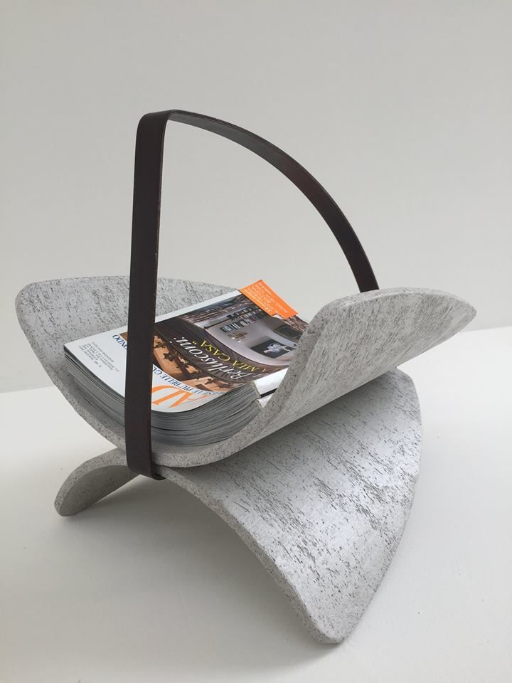 Magazine rack Prop Cement designed by Sagax with a cement effect. #magazine #rack #magazinerack #cement #concrete #beton #industrialstyle #handmadeeffect #madeinitaly
