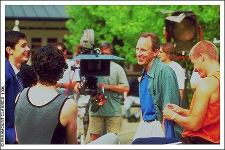 Director Simon Shore on the set