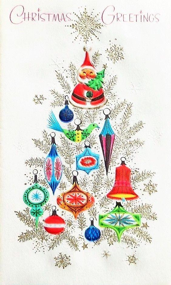 Weihnachtsbilder Pinterest.Cute Vintage Christmas Card Weihnachtsbilder Pinterest