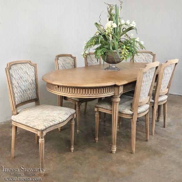 Antique French Louis Xvi Parquet Dining Table Www Inessa Com Antique Dining Room Furniture Dining Table French Dining Chairs
