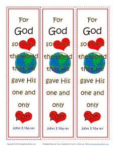 John 3:16 Printable Bookmarks