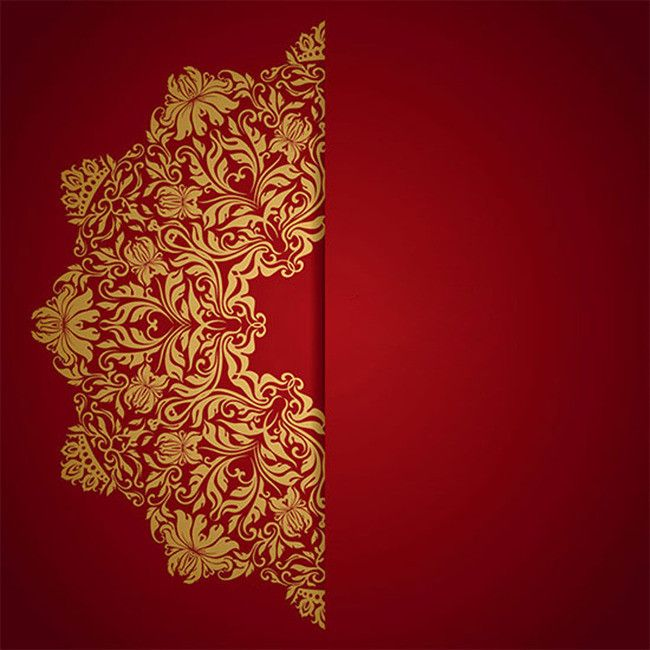 Floral Design Pattern Ornament Background In 2019 Red