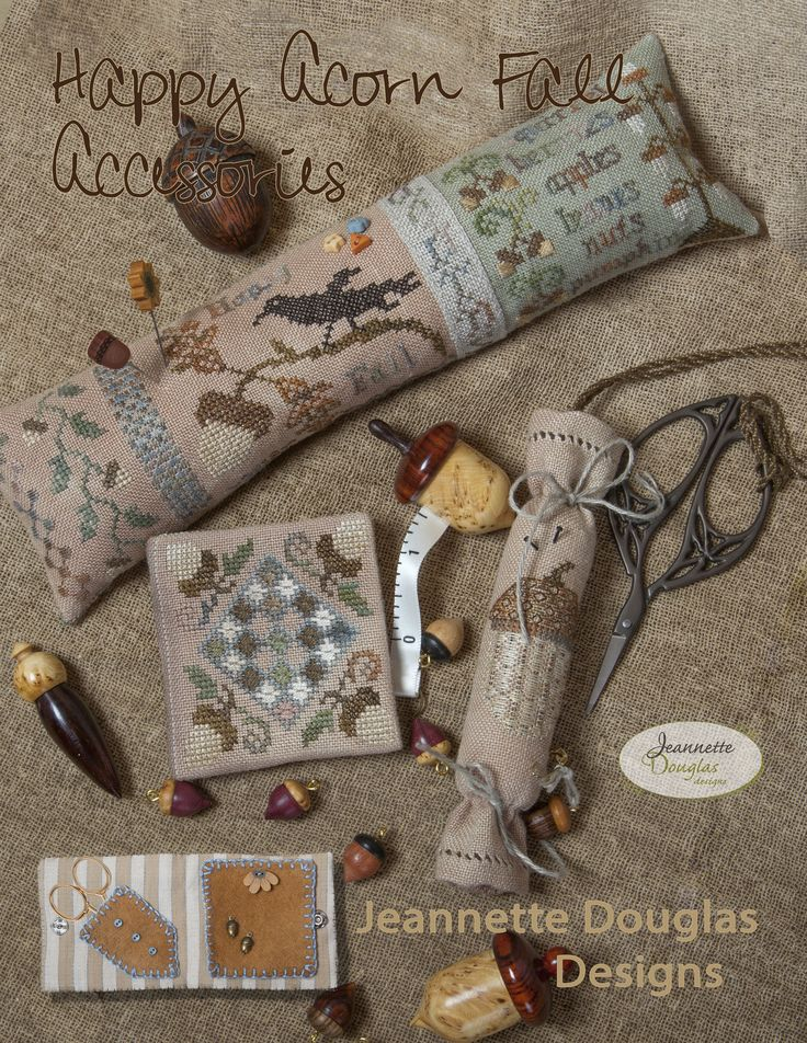 Happy Acorn Fall Accessories - Jeanette Douglas Designs.