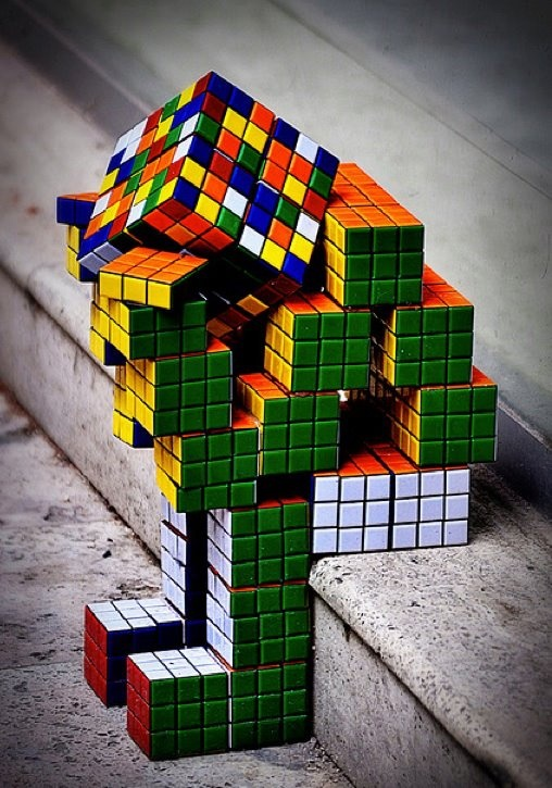 Rubik's Cube Statue by Danleyc, via Flickr