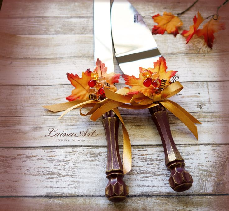 Fall Wedding Cake Server Set Knife Fall Wedding Cake Cutting Set Cake Knife Set…