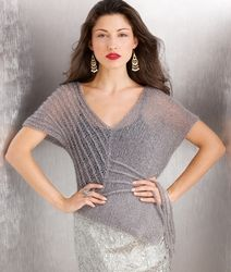 Irina's Vogue Knitting Lace Top in Tilli Goldenrod Symphony
