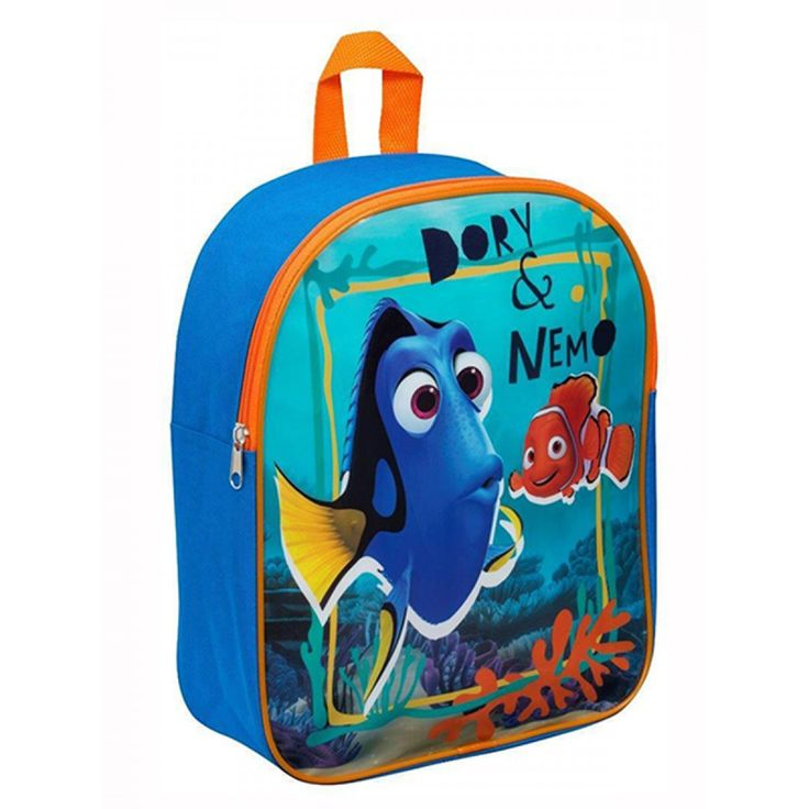 This Finding Nemo Dory Junior Backpack is ideal for use at school, days out or nights away. The bag also features a great image of Dory and Nemo on a turquoise under the sea themed background.