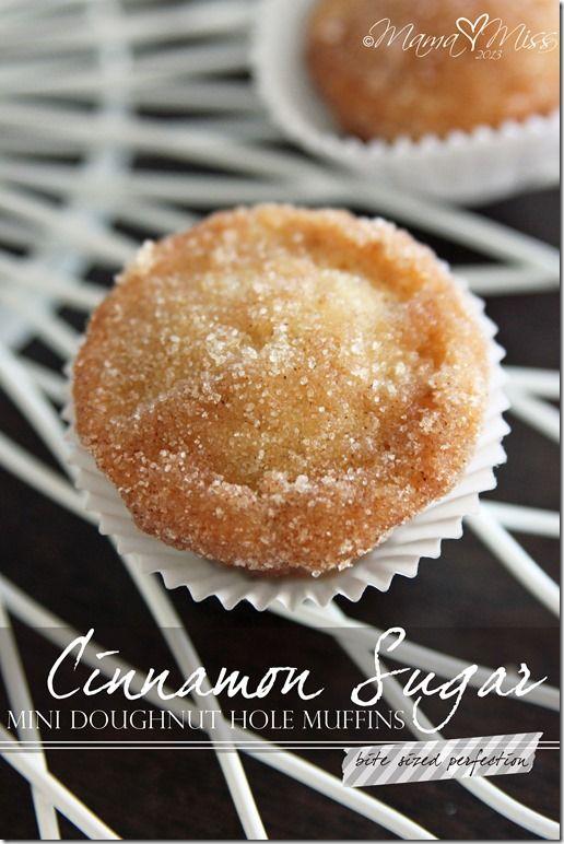 Cinnamon Sugar Mini Doughnut Hole Muffins {Gluten-Free, Vegan -- use vegan butter} ***So delicious & easy