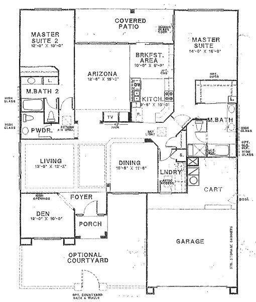 Floor plans with 2 masters floor plans with two master for House plans with 3 master suites