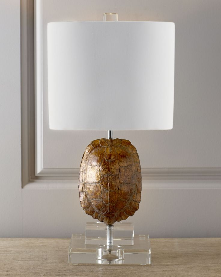 Gold Tortoise Mini Lamp.
