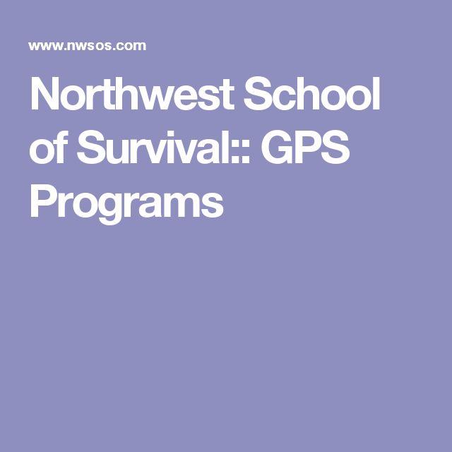 Northwest School of Survival:: GPS Programs