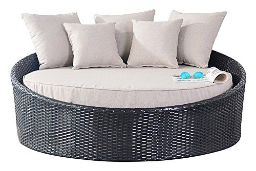 Port Royal Luxe Rattan Garden Furniture Daybed Sun Lounger - Brown