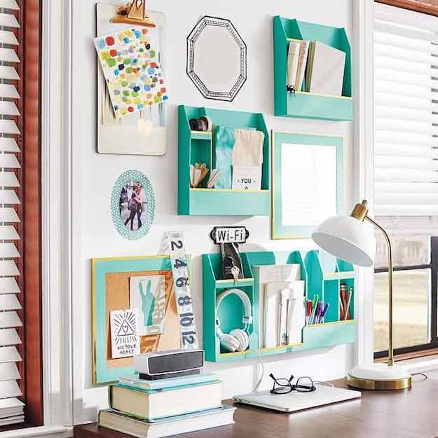 organized desk dorm room ideas steal the styles of these dreamy dorm rooms - Dorm Room Desk Ideas