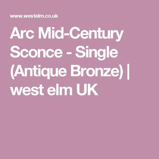 Arc Mid-Century Sconce - Single (Antique Bronze) | west elm UK