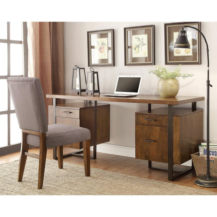 Riverside Furniture Terra Vista Double Pedestal Desk | from hayneedle.com