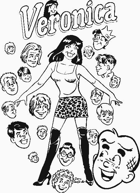 Betty and veronica archie comics coloring pages pictures