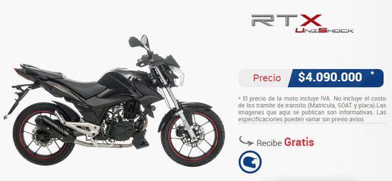 Precio-moto-akt-rtx-unishock-150