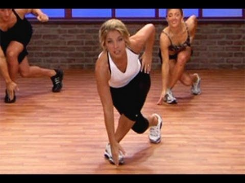 Denise Austin Cardio Sports Training Workout- emphasis on abs and lower body- 10 min.