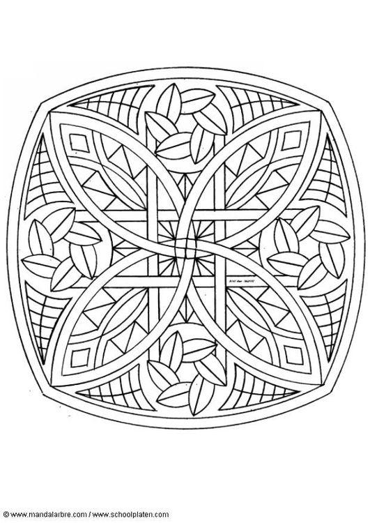 Coloring page mandala-1702a
