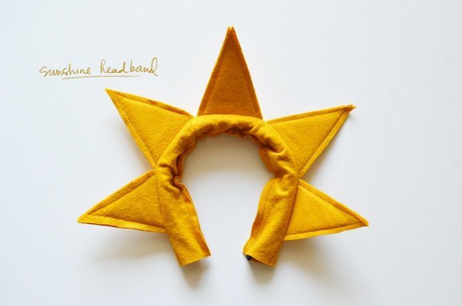 diy sunshine costume headband