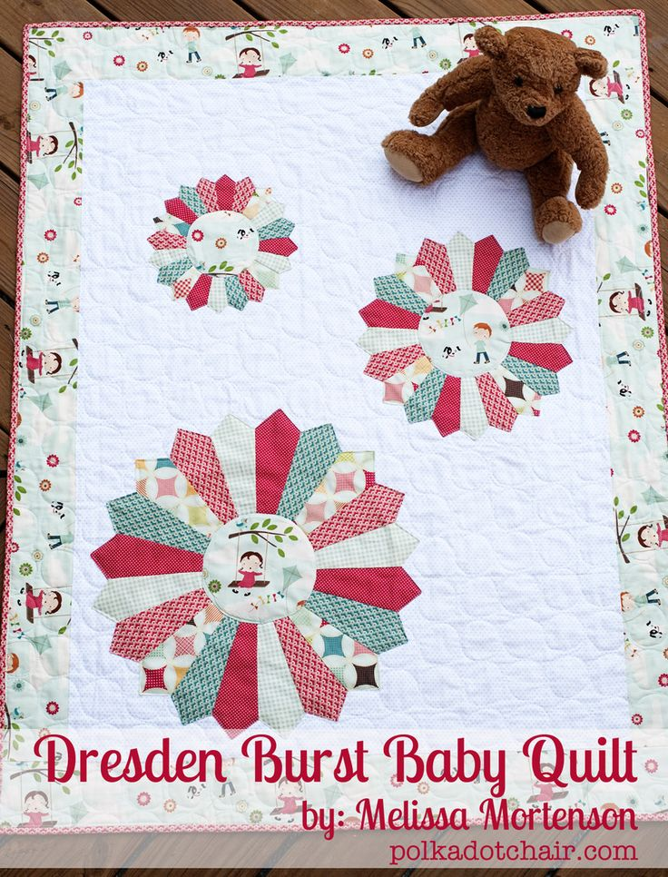 now if I could only find the courage to try a dresden...: Burst Baby, Dresden Burst, Blake Design, Baby Quilts Patterns, Polkadot Chairs, Quilts Ideas, Riley Blake, Design Blog, Dresden Plates
