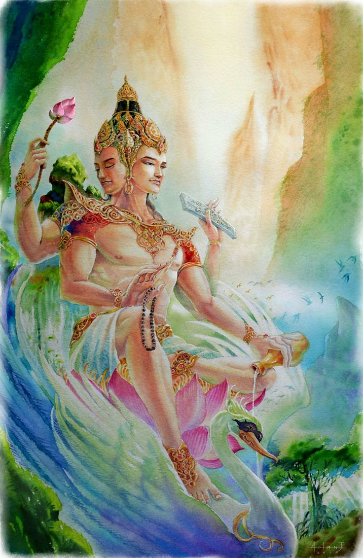 Brahma the Creator #hindu #art